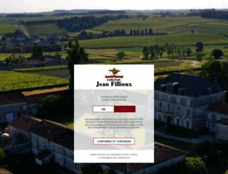 cognac-jeanfillioux.com screenshot
