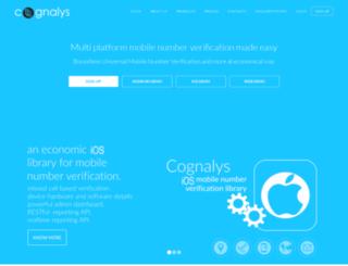 cognalys.com screenshot