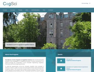 cogsci.boun.edu.tr screenshot