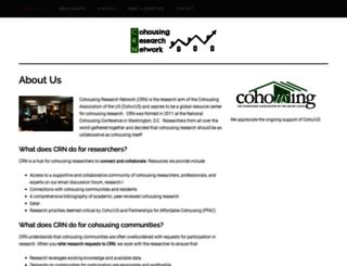 cohousingresearchnetwork.org screenshot