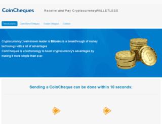 coincheque.com screenshot