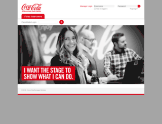 cokecce.hirevue.com screenshot