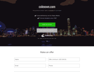 coknown.com screenshot