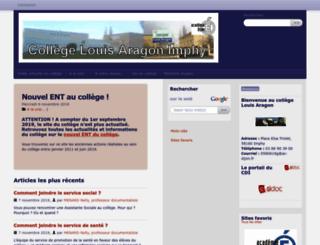 col58-louisaragon.ac-dijon.fr screenshot