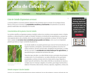 coladecaballo.es screenshot