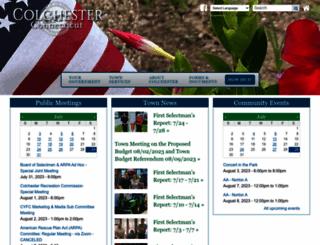 colchesterct.gov screenshot