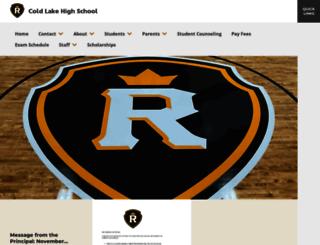 coldlakehighschool.ca screenshot