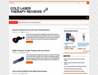 coldlasertherapyreviews.com screenshot