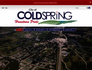coldspring.govoffice.com screenshot