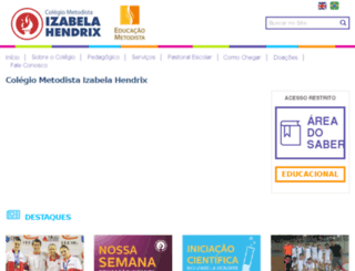colegio.metodistademinas.edu.br screenshot