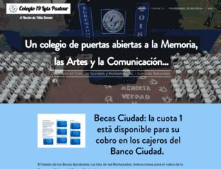 colegio19luispasteur.com screenshot