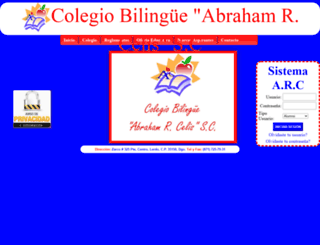 colegioabrahamrcelis.edu.mx screenshot