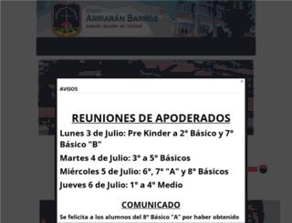 colegioarriaranbarros.webescuela.cl screenshot