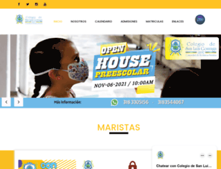 colegiodesanluisgonzaga.edu.co screenshot