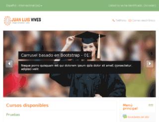 colegiojuanluisvives.net screenshot