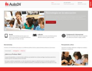 colegios4.aula24horas.com screenshot