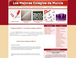 colegiosdemurcia.com screenshot