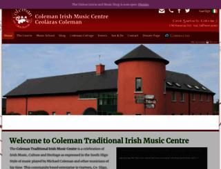 colemanirishmusic.com screenshot