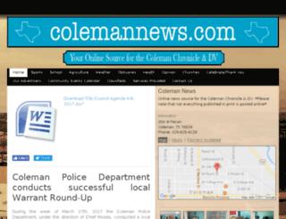 colemannews.com screenshot