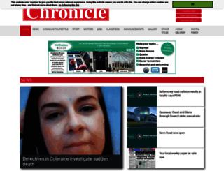 coleraine.thechronicle.uk.com screenshot