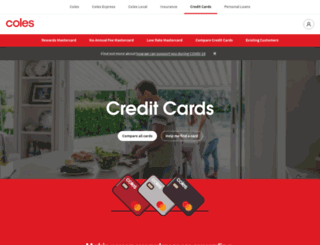 colesmastercard.com.au screenshot