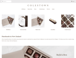colestownchocolates.co.nz screenshot