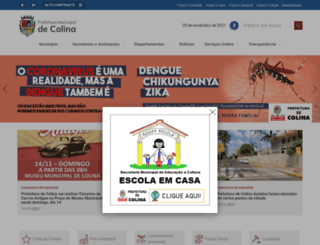 colina.sp.gov.br screenshot