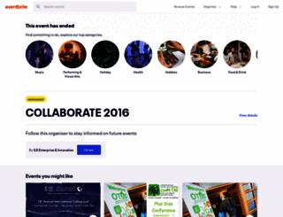 collaborate2016.eventbrite.co.uk screenshot