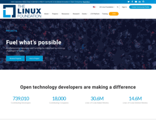 collabprojects.linuxfoundation.org screenshot