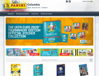 collectibles.paninicolombia.com screenshot
