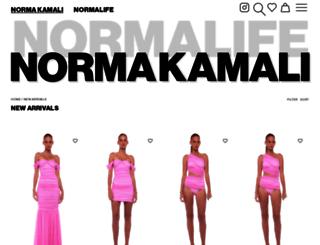 collection.normakamali.com screenshot
