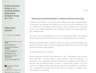 collectionreportlawsuit.com screenshot