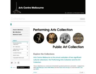 collections.artscentremelbourne.com.au screenshot