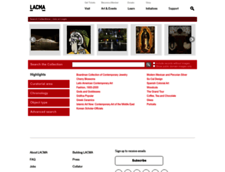 collections.lacma.org screenshot