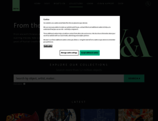 collections.vam.ac.uk screenshot