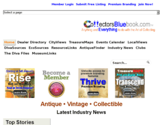 collectorsbluebook.com screenshot
