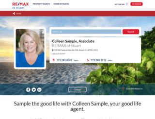 colleensample.com screenshot