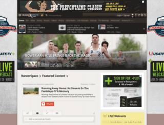 college.runnerspace.com screenshot