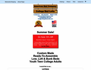 collegebedlofts.com screenshot
