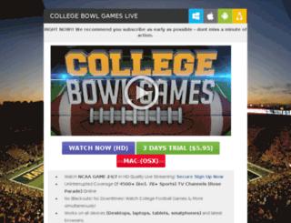 collegebowlgames.directtvlivestream.com screenshot