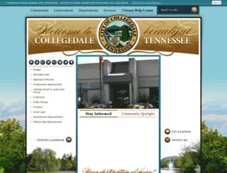 collegedaletn.gov screenshot