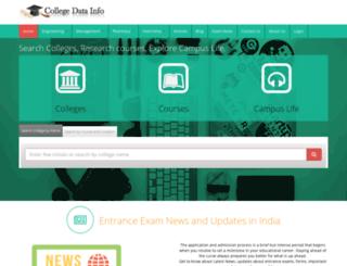 collegedatainfo.com screenshot