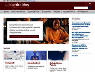 collegedrinkingprevention.gov screenshot