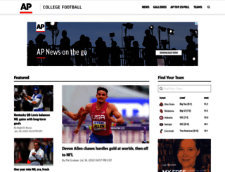 collegefootball.ap.org screenshot