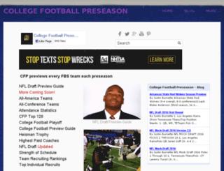 collegefootballpreseason.com screenshot