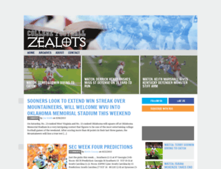 collegefootballzealots.com screenshot