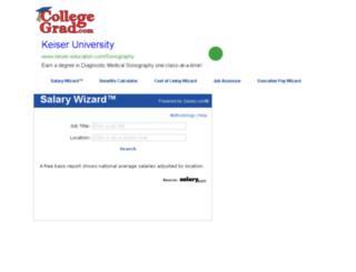 collegegrad.salary.com screenshot