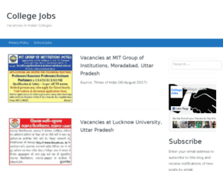 collegejobs.co.in screenshot