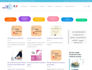 collegekarr.fr screenshot