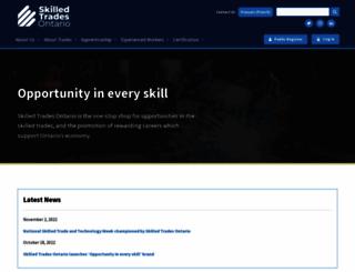 collegeoftrades.ca screenshot
